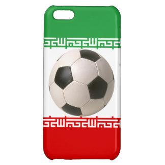 赤、緑および白いイランのflaの3Dサッカーボール iPhone5Cケース
