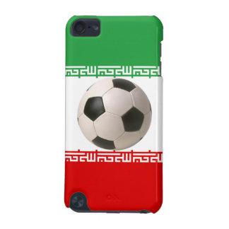 赤、緑および白いイランのflaの3Dサッカーボール iPod Touch 5G ケース