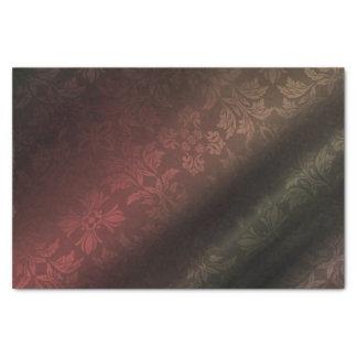 赤、金ゴールド、Foral緑の10lbのティッシュペーパー 薄葉紙