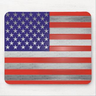 赤、銀および青の米国旗のマウスパッド マウスパッド