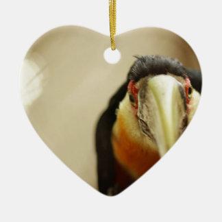 赤breasted Toucan セラミックオーナメント