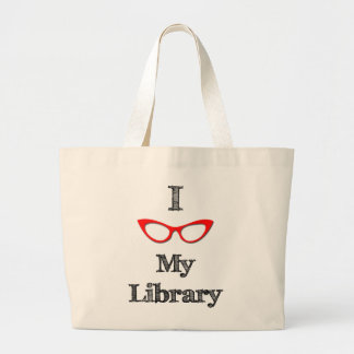 赤I愛私の図書館 ラージトートバッグ