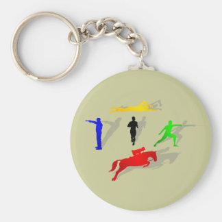 走られる五種競技のフェンシングの射撃、発砲の水泳の跳躍 キーホルダー