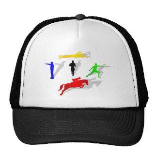 走られる五種競技のフェンシングの射撃、発砲の水泳の跳躍 ハット
