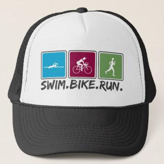 走られる水泳のバイク(トライアスロン) キャップ