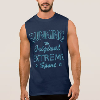 走ります、元の極度なスポーツ(青いネオン) 袖なしシャツ