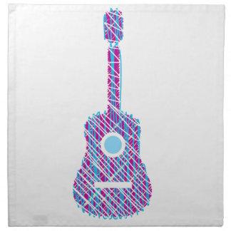 走り書きされるギター ナプキンクロス