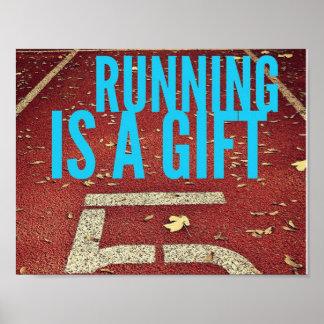 走ることはギフト-やる気を起こさせるなポスターです ポスター