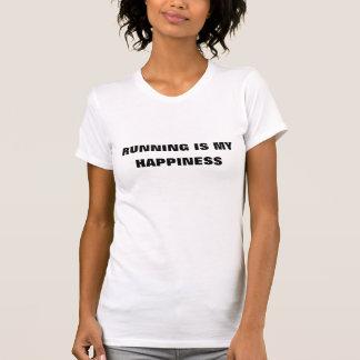走ることは私の幸福です Tシャツ