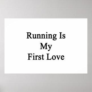 走ることは私の最初愛です ポスター