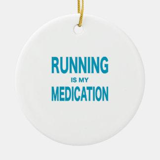 走ることは私の薬物です セラミックオーナメント