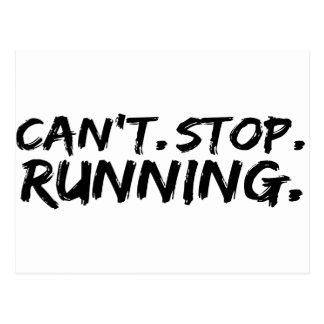 走ることを止めることができません ポストカード
