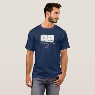 走ること。 操業。 DNA Tシャツ