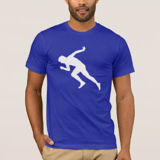 走ること; 青い Tシャツ