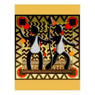 走るアフリカのオリンピックやりを渡します ポストカード