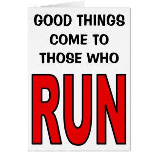 走る人に来られるよい事! カード