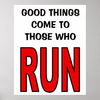 走る人に来られるよい事! ポスター