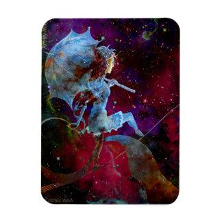 走行する女性銀河系の宇宙歩行の磁石 マグネット