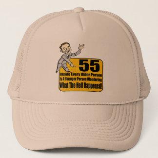 起こった何が第55誕生日プレゼント キャップ