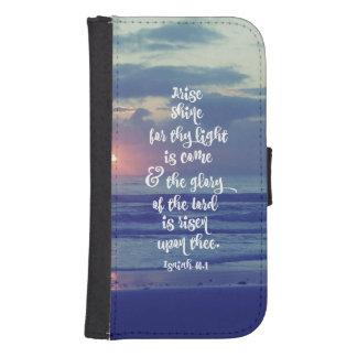 起こって下さい、聖書の詩を照らして下さい お財布型 GALAXY S4ケース