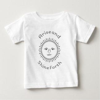 起こり、照らして下さい ベビーTシャツ