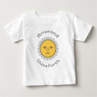 起こり、色を照らして下さい ベビーTシャツ