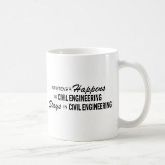 起こるものは何でも-土木技師 コーヒーマグカップ
