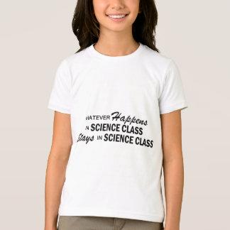 起こるものは何でも-科学のクラス Tシャツ