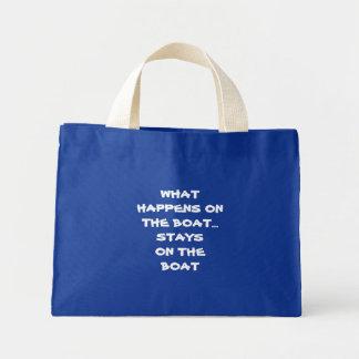 -起こる何がおもしろいなボートのボートの滞在で ミニトートバッグ