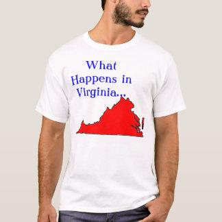 起こる何がヴァージニア Tシャツ