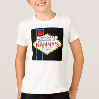 起こる何が乳母で乳母の滞在で Tシャツ
