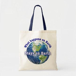 起こる何が地球の地球の滞在で トートバッグ