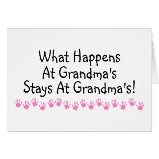 起こる何が祖母で祖母の滞在で カード