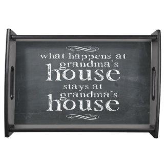 起こる何が祖母の家で黒板 トレー