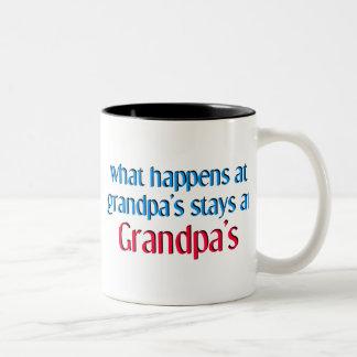 起こる何が祖父で ツートーンマグカップ