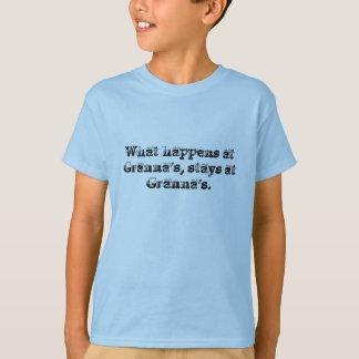 起こる何がGrannaで、とどまりますGrannaに Tシャツ