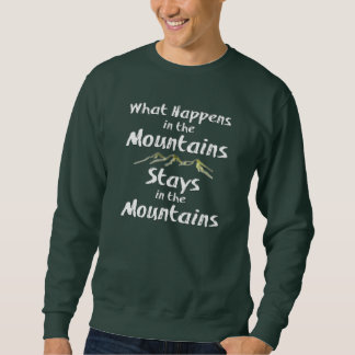 起こる何がMtnsの山の滞在で スウェットシャツ