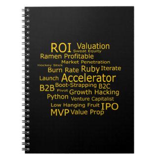 起動ビジネス専門語の雲 ノートブック