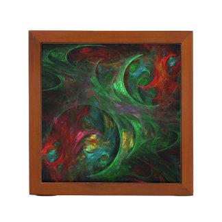 起源の緑の抽象美術 ペンスタンド