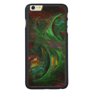 起源の緑の抽象美術 CarvedメープルiPhone 6 PLUS スリムケース
