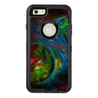 起源の青い抽象美術 オッターボックスディフェンダーiPhoneケース