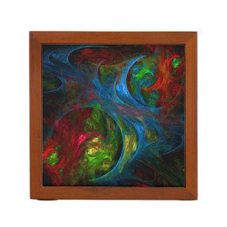 起源の青い抽象美術 ペンスタンド