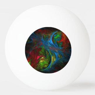 起源の青い抽象美術 卓球ボール