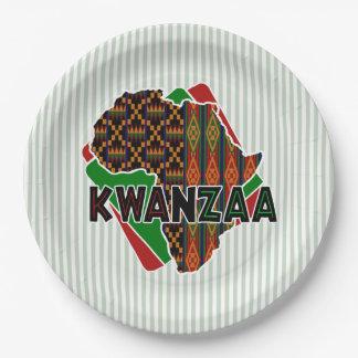 起源のKwanzaaのパーティーの紙皿 ペーパープレート