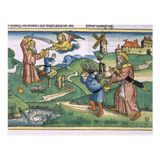 起源21アイザック、frの提供している1-14年のアブラハム ポストカード
