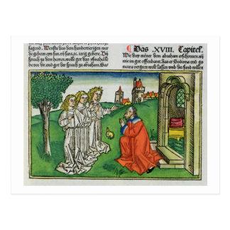 起源Thからの18 2アブラハムおよび3つの天使、 ポストカード
