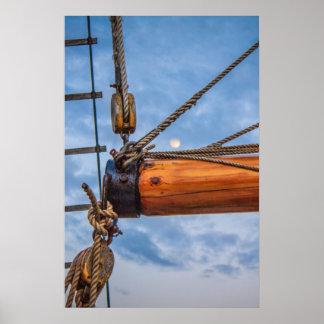 起重機およびジブの航行ボート ポスター