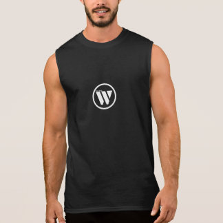 超仕事の服装の綿の袖なしのTシャツ 袖なしシャツ