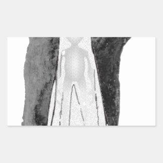 超常的なトリオ 長方形シール