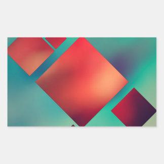 超現実主義で立方体にされる 長方形シール